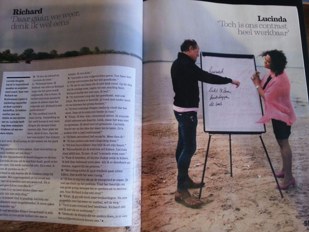 Lucinda Douglas in magazine ZiN