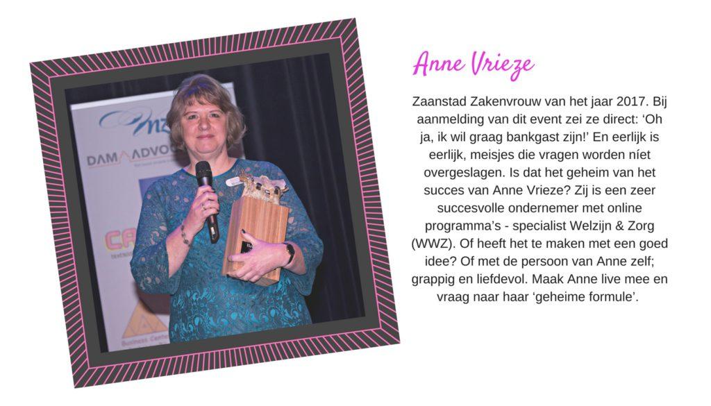 Anne Vrieze bij Yes You Can Live Your Dream met Lucinda Douglas