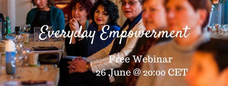 Free Webinar Everyday Empowerment by Lucinda Douglas