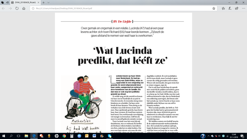 Lucinda Douglas in de media