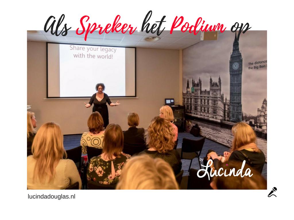 Als Spreker het Podium op! door Lucinda Douglas