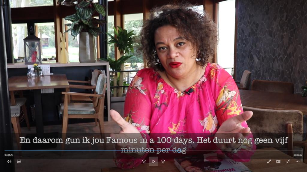 Famous in 100 Days met Lucinda Douglas #beroemd